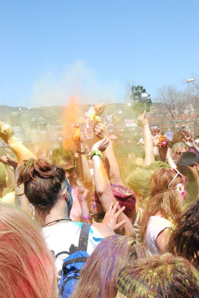 holi explosión de color