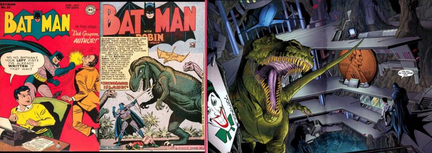 batman dinosaurio