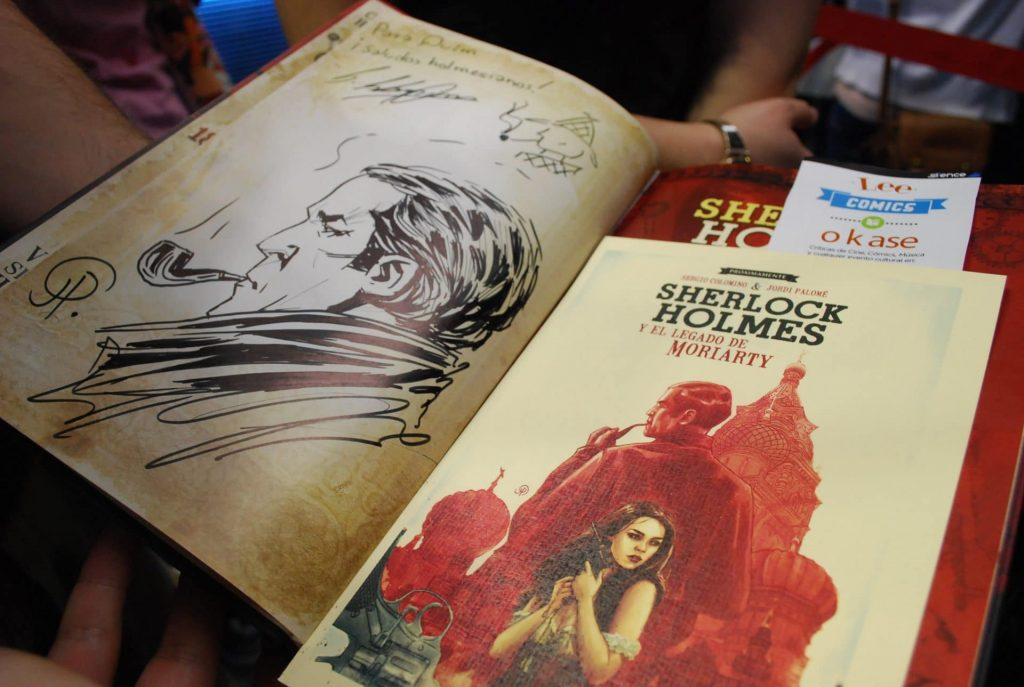 Firmas del escritor e ilustrador de Sherlock Holmes en Barcelona