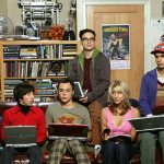 the big bang theory leonard sheldon howard raj penny laptops room sofa game 57626 1366x768