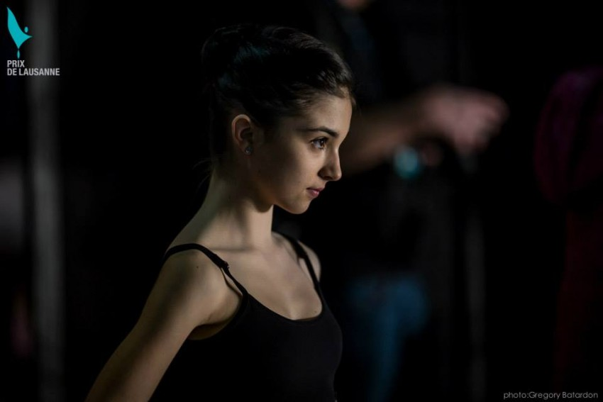 Bailarina apunto de salir Prix Lausanne