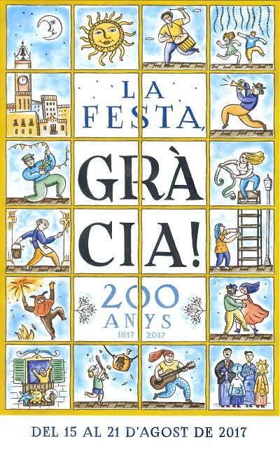 cartel fiesta mayor gracia 2017