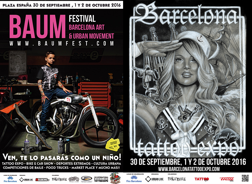 barcelona tattoo expo 2016 poster