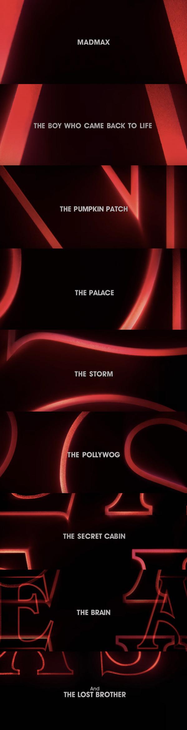 Nombres de los capítulos de la segunda temporada de Stranger things