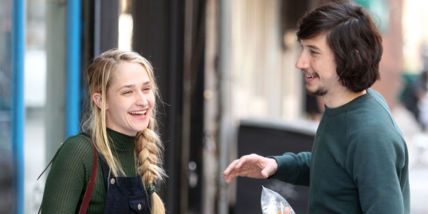 landscape nrm 1429436973 jemima kirke and adam driver on the set of girls season 5 jessa an adam