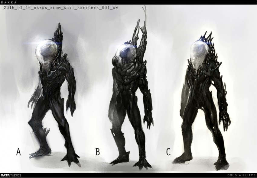 Cortos SciFi: Rakka Concept Art