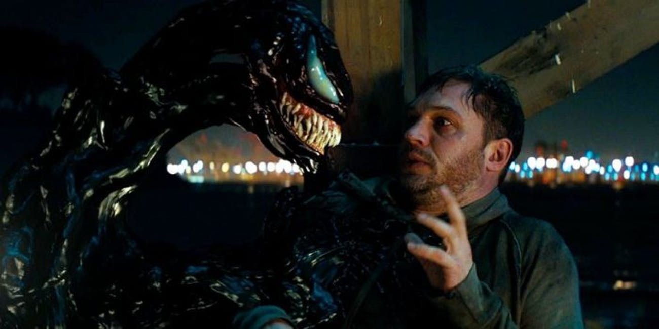venom converses with eddie brock in the venom movie