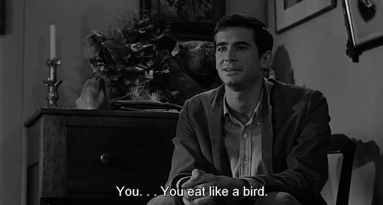 Norman Bates cena con Marion