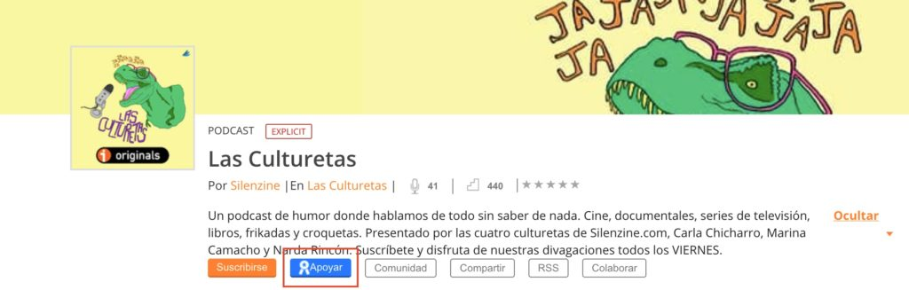 Apoyar Podcast de Las Culturetas