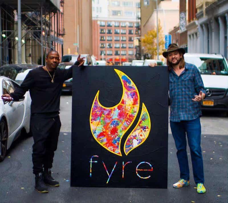 óleo Fyre festival vendido por Ja Rule