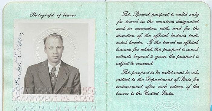 Pasaporte Frank Olson